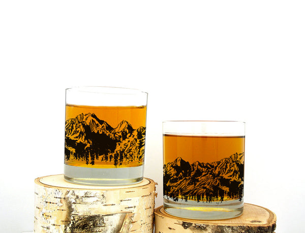 Mountain Range Rock Glasses