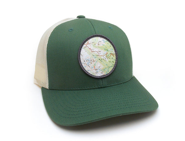 Trucker Hat with Mountain Topography Patch