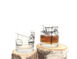 Ski Lift Whiskey Glasses