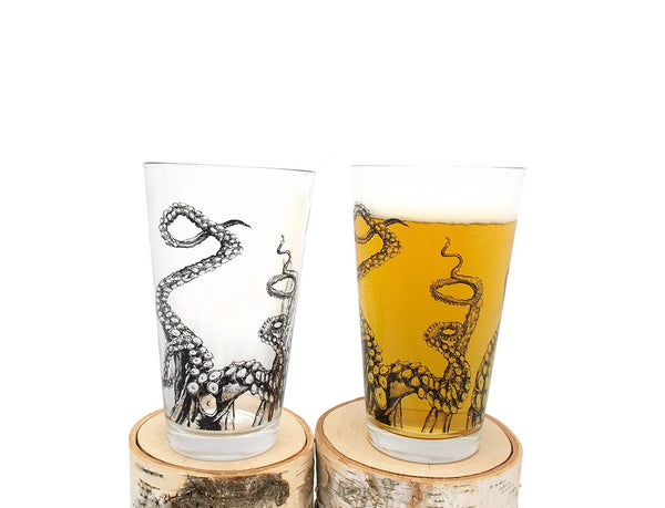 Octopus Tentacle Pint Glass