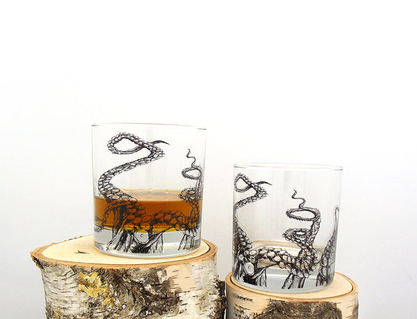 Octopus Tentacle Whiskey Glasses