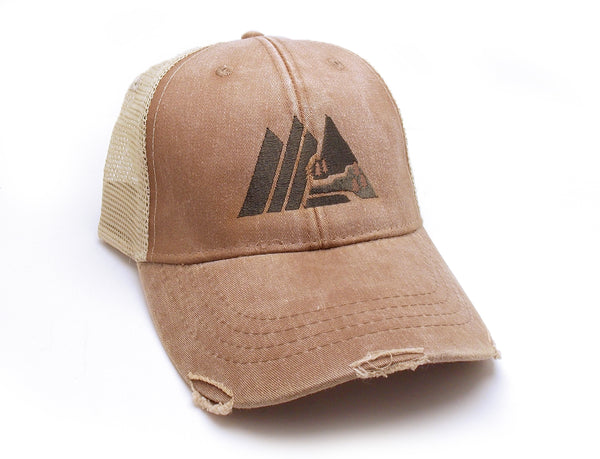 Retro Mountain Trucker Hat