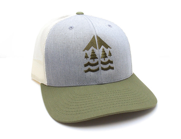 River Mountain Forest Trucker Hat