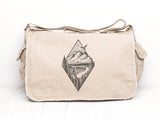 River Mountain Forest Messenger Bag