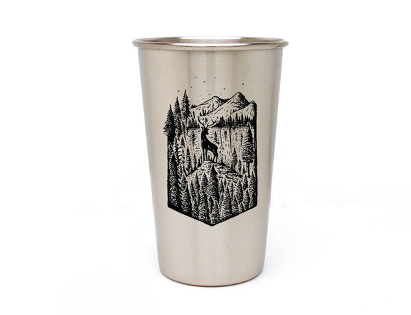 Elk Mountain Forest Stainless Pint