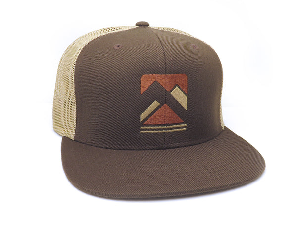 Rustic Mountain Range Trucker Hat