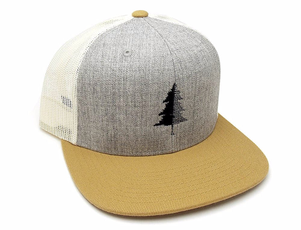 Three Tone Trucker Hat - Split Tree 684368a4742