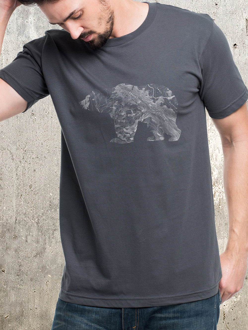 Topographic Bear T Shirt