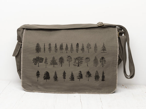 Tree Diagram Messenger Bag
