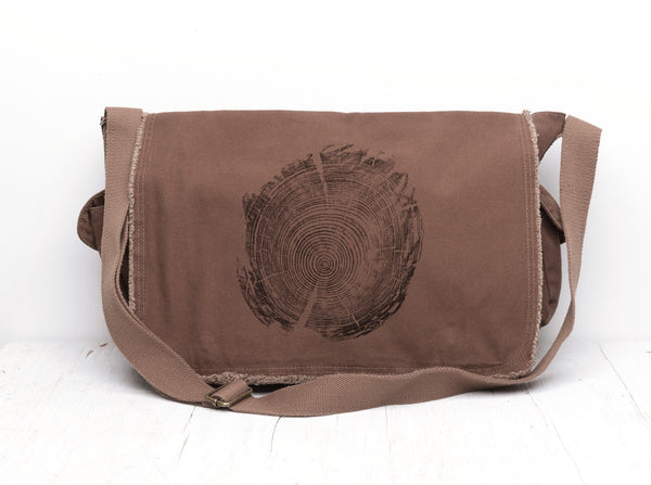 Tree Ring Messenger Bag