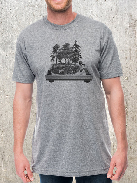 Vinyl Turntable Forest T-Shirt