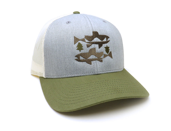 Trout and Trees Trucker Hat