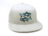 Trout and Trees Hat Grey