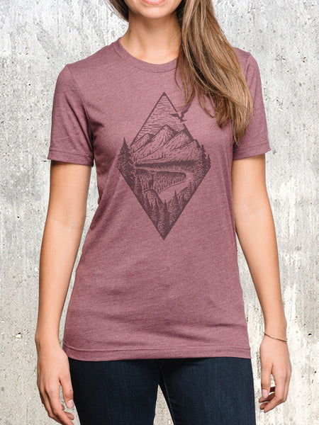 Women's River Mountain Forest T-Shirt