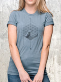 Women's Waves and Geometry T-Shirt