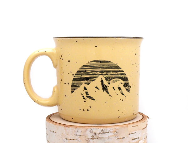 Mountain Woodgrain Campfire Mug