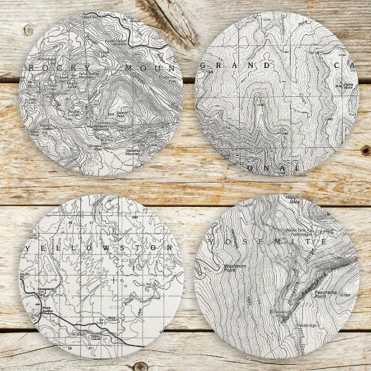 National Parks Map Coasters