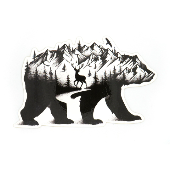 Bear in the Mountains - Die Cut Sticker