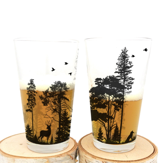 Forest Animals Pint Glass
