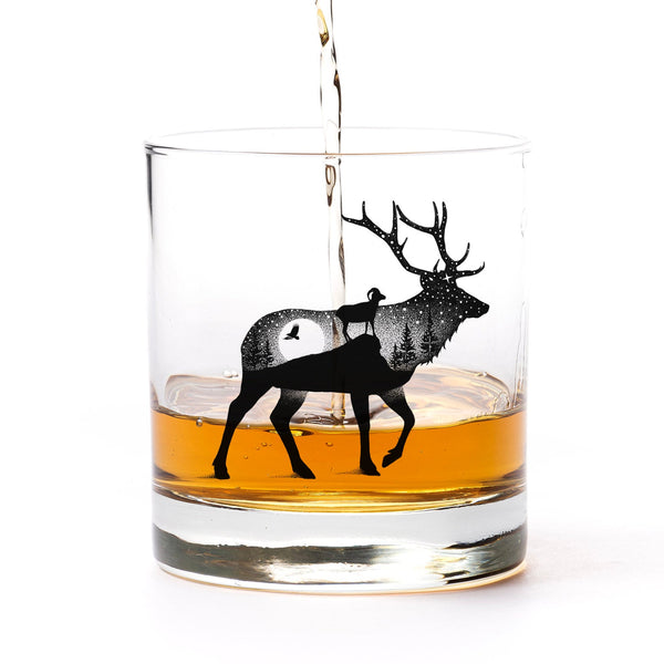Elk Mountain Landscape Whiskey Glasses