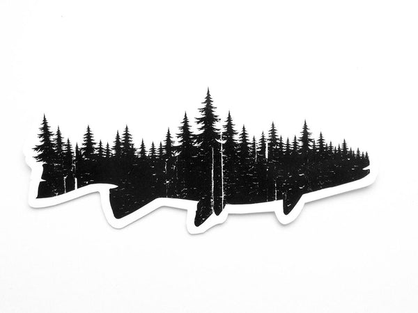 Fish & Forest Vinyl Decal
