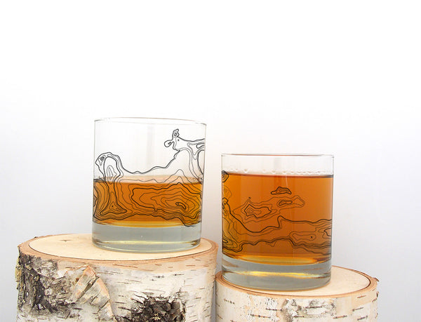 Topographic Map Glasses- Crawlspace Studios