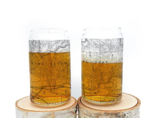 Grand Tetons National Park Can Glasses