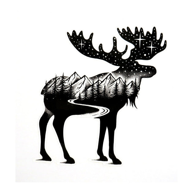 Moose - Die Cut Sticker