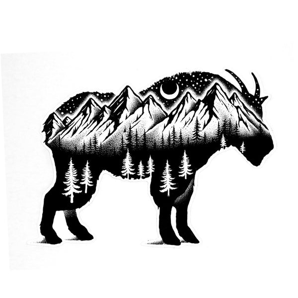 Mountain Goat - Die Cut Sticker