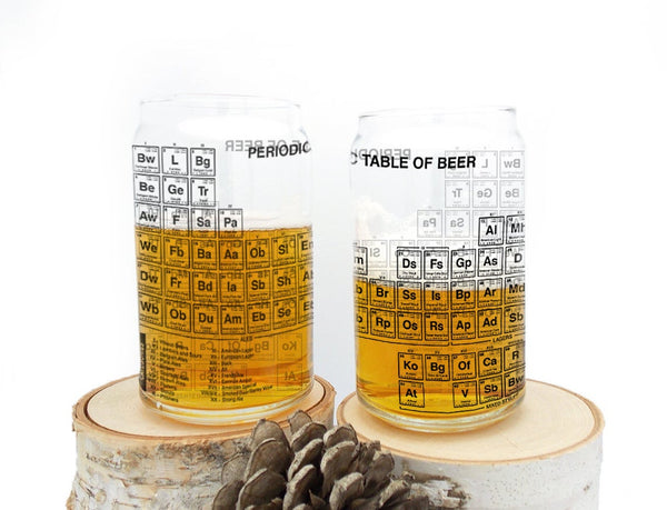 Periodic Table of Beer Can Glasses