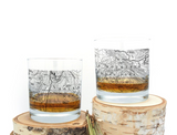 Rocky Mountain National Park Topographic Map - Whiskey Glasses