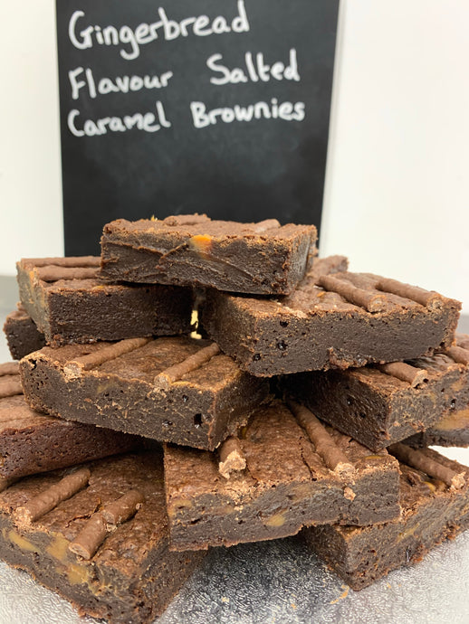 Gingerbread Flavoured Salted Caramel Brownie