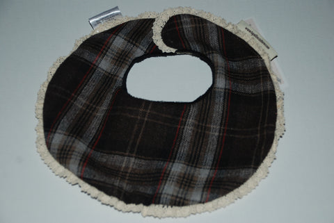 Luxury Baby Bibs-plaid & lace