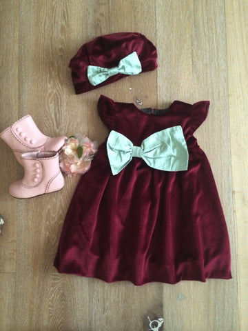 Very Berry Dress & Hat-luxury dress by La Petite Couture