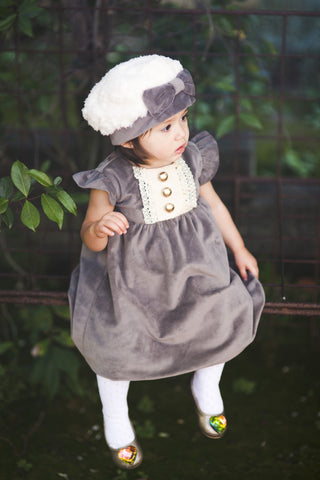 Velour Couture luxury baby dress & Bolero