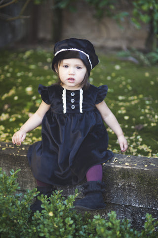 Ava Dress & Hat-luxury baby dress