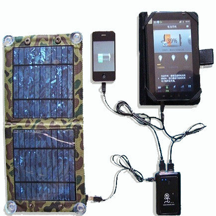 6 Watt foldable solar bag charger with powerbank