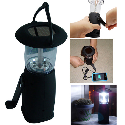 Solar LED-lamp with charger for mobile phones