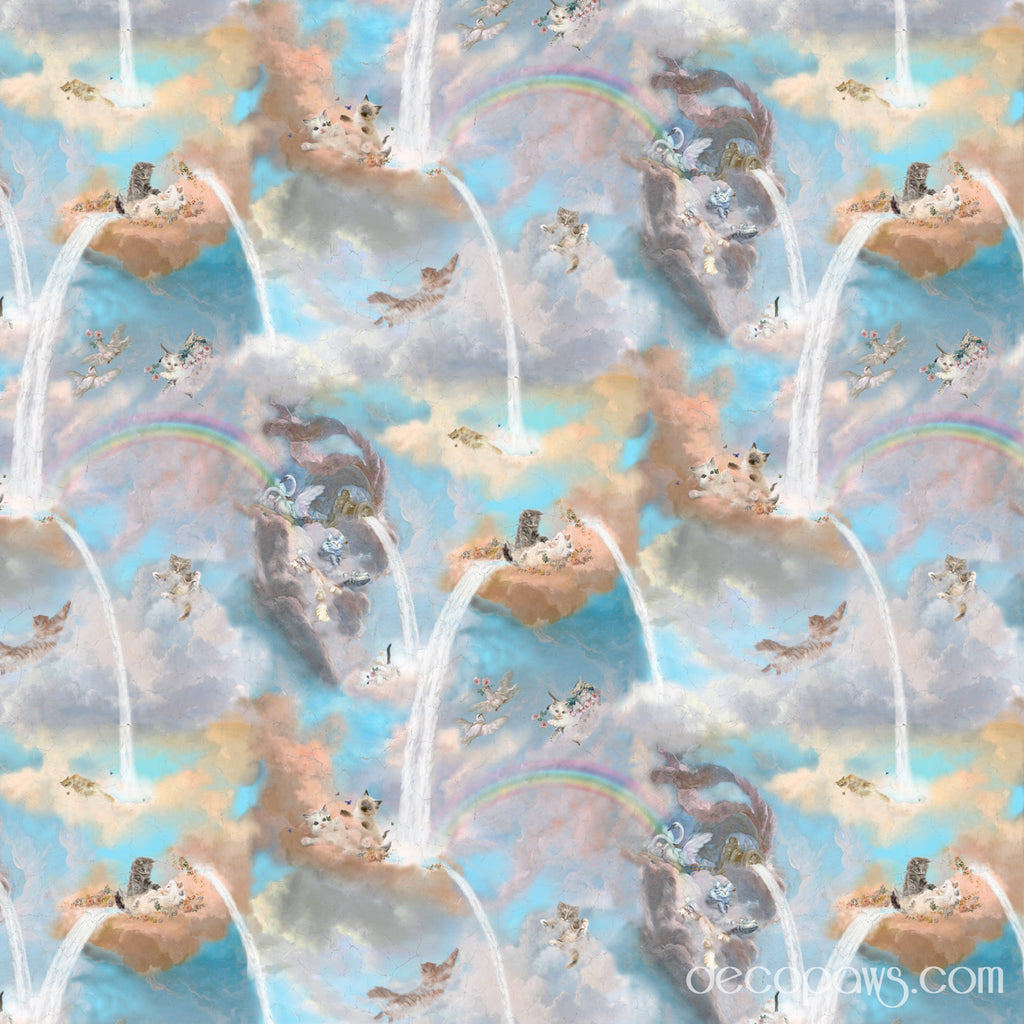 Over The Rainbow Bridge Shower Curtain