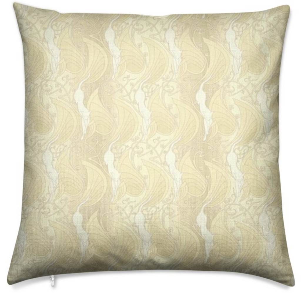 Haverstock Linen Look Laguna Yellow Throw Pillow