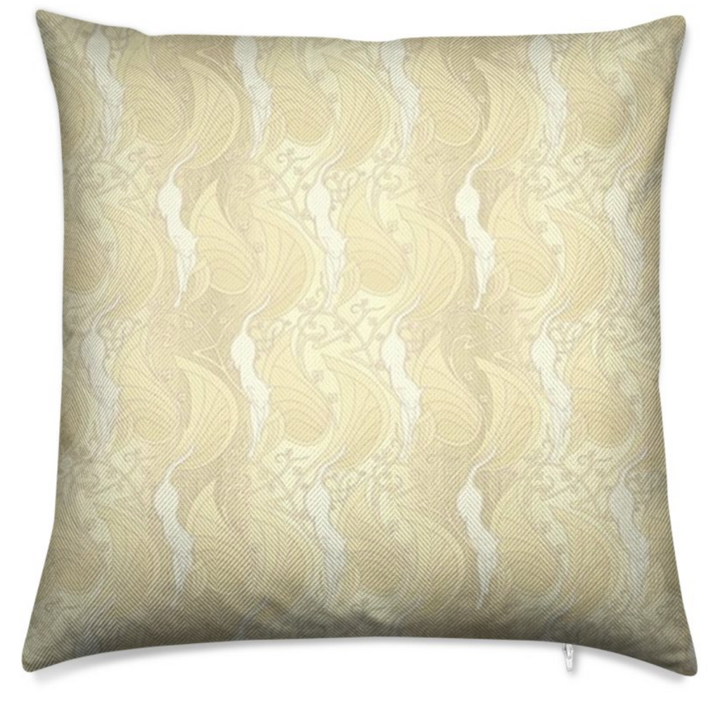 Herringbone Laguna Yellow Throw Pillow