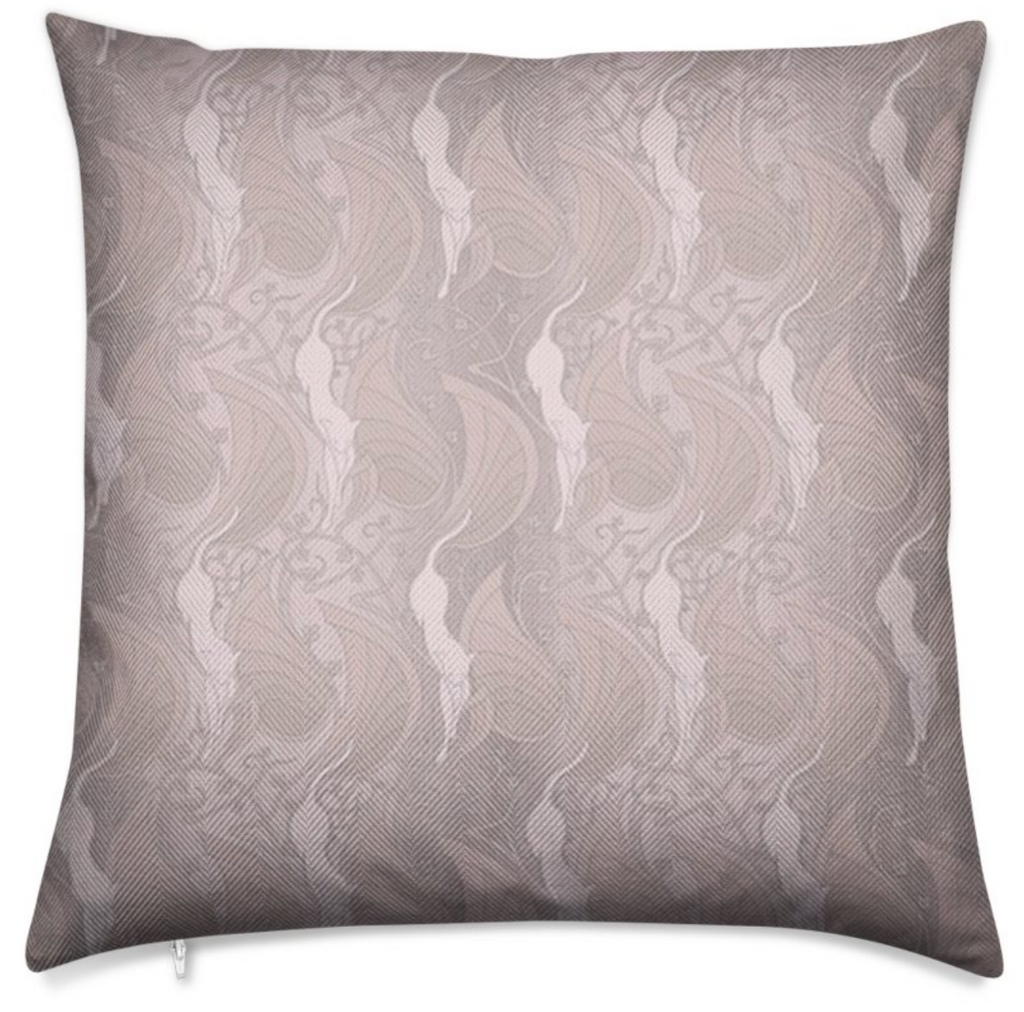 Herringbone Flamingo Pink Throw Pillow