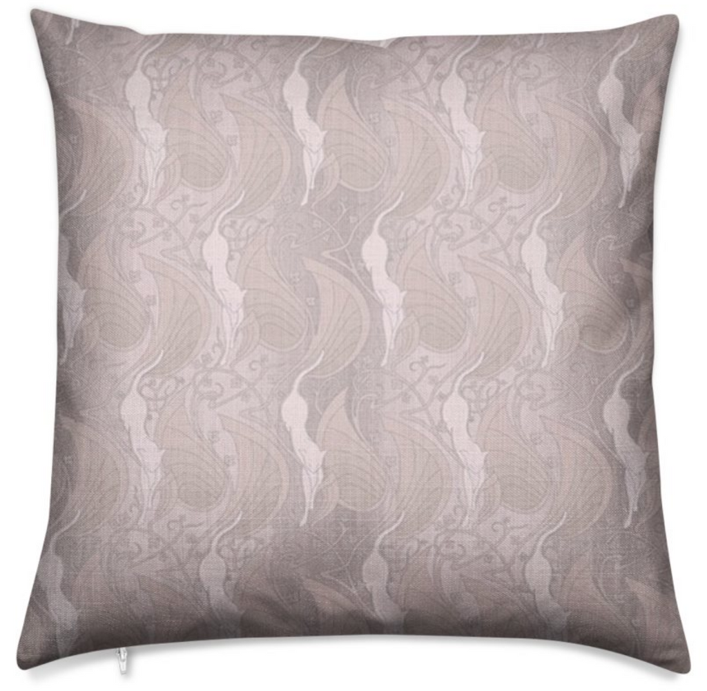Haverstock Linen Look Flamingo Pink Throw Pillow