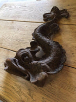 CAST IRON ORNAMENT / FREESTANDING / FIREPLACE DECAL - Browsers Emporium