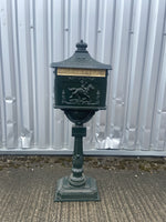 GREEN POST BOX ON STAND (NEW) - Browsers Emporium