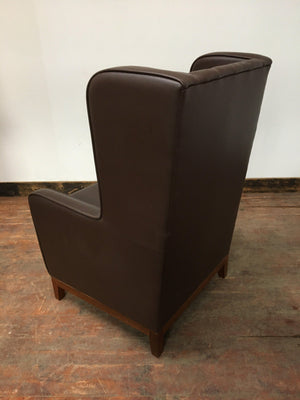 CHOCOLATE BROWN ARMCHAIR - Browsers Emporium
