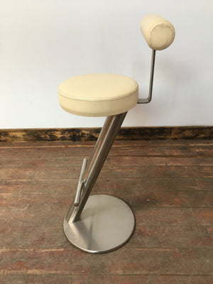 MINIMALIST CREAM BAR STOOL - Browsers Emporium