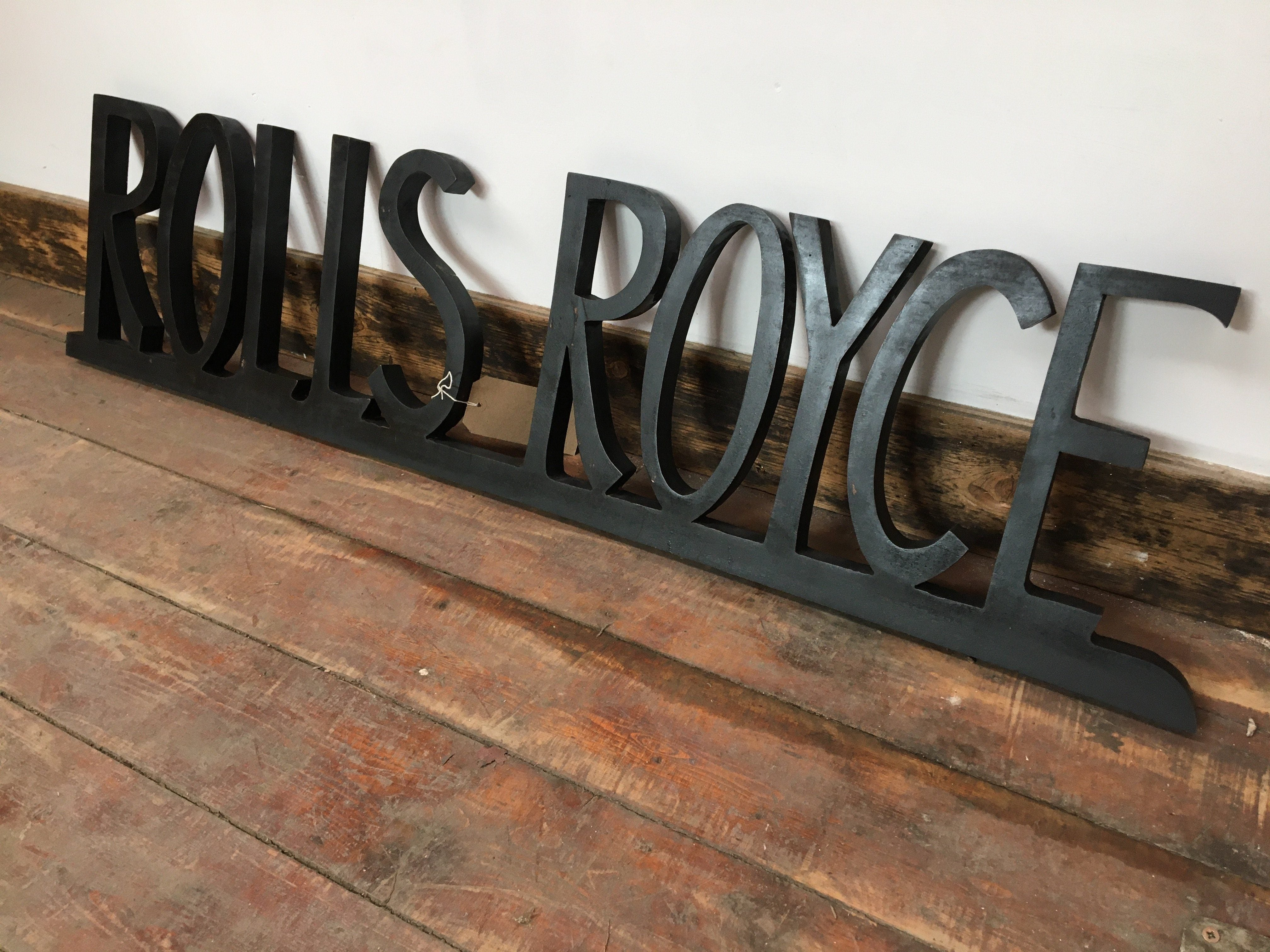 HAND SAWN ROLLS ROYCE  WALL DECORATION (NEW) - Browsers Emporium