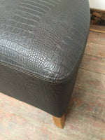 BROWN AND GOLD FAUX CROCODILE TUB CHAIR (NEW) - Browsers Emporium