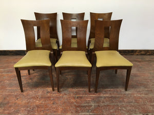SET OF 6 HIGH BACK DINING CHAIRS (STACKABLE) - Browsers Emporium